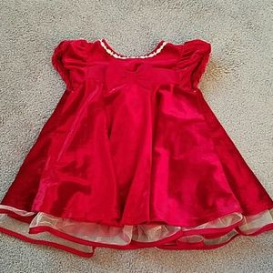 Crushed velvet red Christmas dress